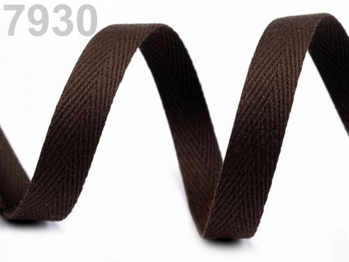 serge coton 10 mm marron