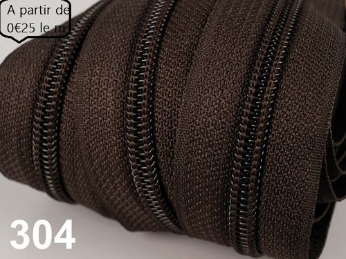 fermeture au metre marron 3 mm
