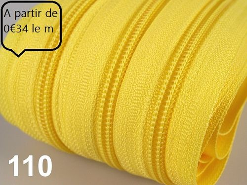 fermeture au metre jaune flash 5 mm