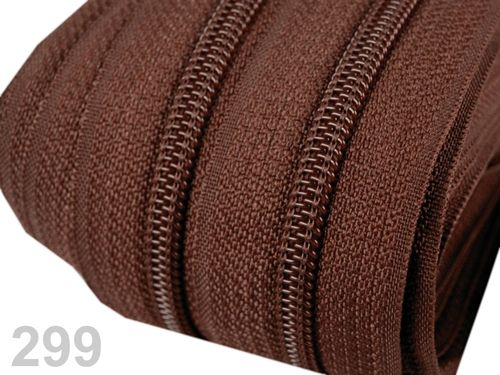 25 m de fermeture au metre marron 5 mm