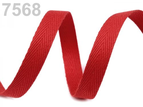 serge coton 10 mm rouge