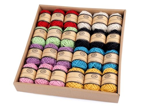 Corde de jute assortie 24 pieces